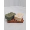 Porte savon en bois rectangulaire